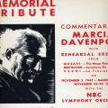 Memorial Tribute To A. Toscanini